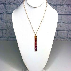 Torrid Rainbow Sparkle Bar Necklace